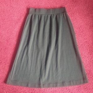 Womens Lands End Black A Line Skirt XS 2-4